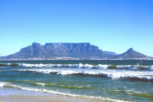 CPT Cape Town with Table Mountain from Bloubergstrand b