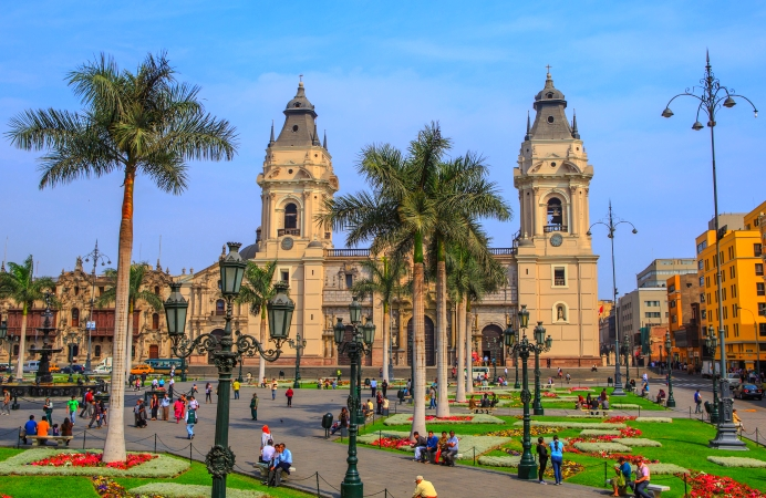 Lima, Peru…the Plaza de Armas de Lima by day