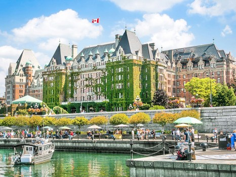 19133277 - beautiful view of inner harbour of victoria, bc, canada